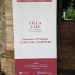 Villa Lais è una dimora storica; pronta per le visite guidate nelle giornate del FAI