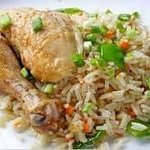 Hot fried rice with chicken