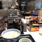 Unlimited green tea - watch the action in the kitchen as you eat.