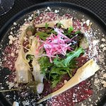 En hærlig Okse Carpaccio - kjøttet var bemerkelsesverdig godt