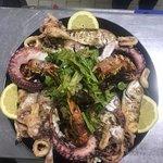 sea food mix plate