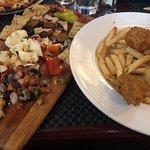 Popeye's Vegan Chicken & Fries with Vegan Cheese platter