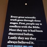 A quote exposed in the Nobel Prize Museum, Stockholm
