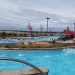 This is the lazy river, it is outside and heated. But only open part of the season.