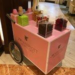 candy trolley in lobby
