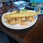 Fried haddock and chips