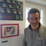 Your bike guide, Alberto Elli,alongside his 2000 Giro d'Italia photo yellow jersey wins!
