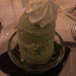 Phenomenal house made pistachio ice cream.