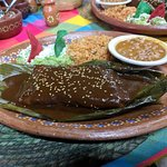 Tamale with mole.