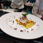 dolce Ostricaio con ricotta di bufala marmellata d'arancia mandorle cioccolato e arance