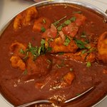 Chicken vindaloo.  Somewhat spicy and a very interesting mix of foreign spices.