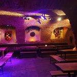 Cool cellar bar.