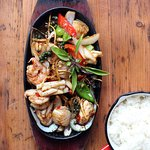 Rosa's Thai Cafe Seafood Hot Plate