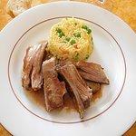 Lamb ribs and rice main