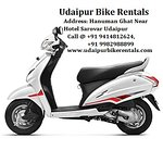 Bike on Rent in Udaipur lakecity