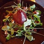 poached Barlett pear salad