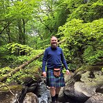 Niall McOwan of Scottish Guided Tours on the trail to the rallying point.