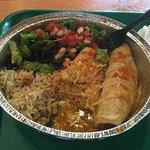 Spicy Pork Enchiladas.