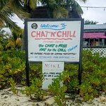 Signage at the Chat and Chill