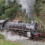 Choo Choo Steam train scenic ride meandering through the valley of a 1000 Hills