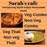Get some yummy homemade North Indian style lunch and dinner at Sarah's Cafe