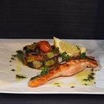 Pavé de saumon et ses petits légumes 🐟