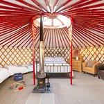Inside the Mongolian yurts