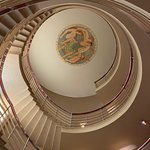 Art Deco staircase leading to rooms