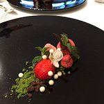 strawberry combo, different tastes and textures