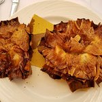 Fried artichokes, Jewish style.  Unbelievably delicious!  A specialty of the Jewish ghetto.