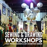 A visit to the Fashion and Art exhibition center run by Lucy's Dream, followed by sewing and drawing workshops