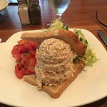 The tuna salad. The dressing on the tomatoes was quite tart. Otherwise a nice meal in and of itself.