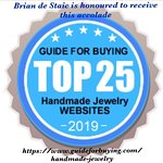 Another accolade for Brian de Staic. Top 25 Handmade Jewelry Website in the world. www.briandestaic.com