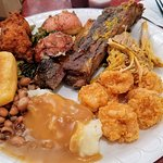 A plate from the buffet