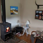 Woodburner and easy-chair
