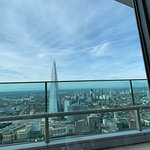 The Shard from our table in the Sky Pod