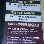 information about their wine club