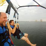 Parasailing over Santa Rosa Sound.
