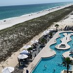 Springhill Suites Navarre Beach Pool.....go from the pool to the beach.........GREAT PROPERTY
