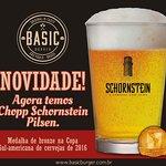 Temos chopp Schornstein Pilsen na Basic Burger!
