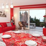Appartamento Red - Soggiorno e tavolo da pranzo