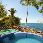 Ocean view from Infinity Jacuzzi of Pura Vida Wellness Retreat