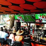 On any given day fans will come in to watch their favorite game at Zi Lounge.