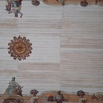 Detalhes da pintura do teto da Matriz de Nossa Senhora do Bonsucesso