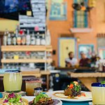Wide variety of food and cocktails in a colorful, Latin-inspired atmosphere.