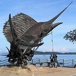 This shark sculpture is a tourism symbol of Aonang beach. It's impressive.