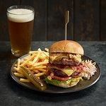 Rib and Bacon burger