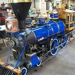 Steam Engine #98 (4-4-0) was just repainted.