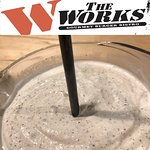 Hand Scooped Milk Shake 🥤time at the WORKS Gourmet Burger Bistro!  Made with 💯 Real 💯 Canadian 🇨🇦 Ice Cream !! We're got the classics like 🍓 strawberry and 🍌 banana, cream-sickle, 🥜 peanut butter and 🍫 chocolate, or pick your own legendary favourite from our selection of other ingredients like Oreo as show in the pic!