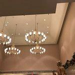 1900 Park Fare restaurant chandeliers.